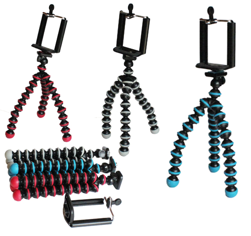 Tripod cumi Flexible Mini Ukuran S - Gorila Pod Smartphone / Digital Camera Tripod + Holder Phone