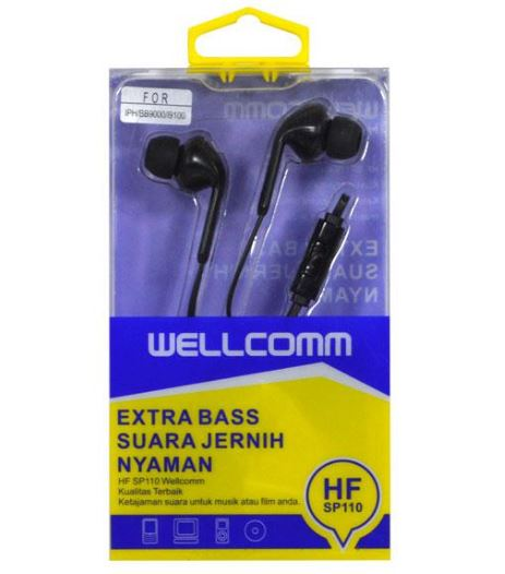 HeadSet Kabel Stereo Iphone / Samsung / Blackberry 9000 Tipe SP110 / SP-110