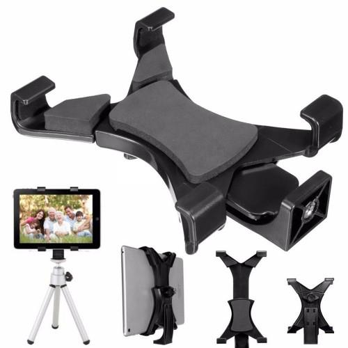 HRT-004 Universal Tablet Holder Mount 1/4 Screw Bracket Tripod - VTM4-ALX-1 - Black