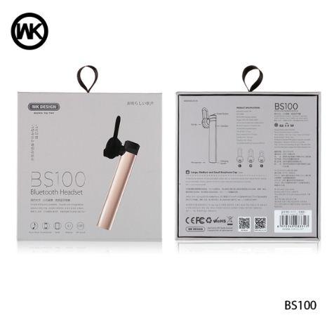 Handsfree Bluetooth Stereo WK BS100 / Headset / Earphone