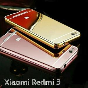 Bumper Mirror Xiaomi Redmi 3 - Bumper Kaca Plus Tutup Cover Belakang