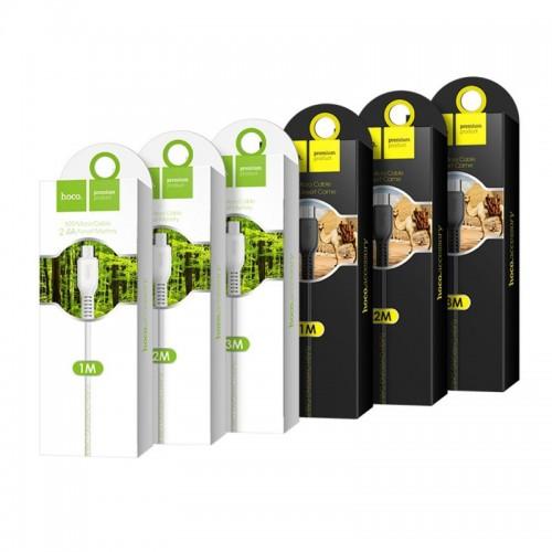 Hoco X20 Flash Micro Usb Charging Data Sync Cable 3M - Black