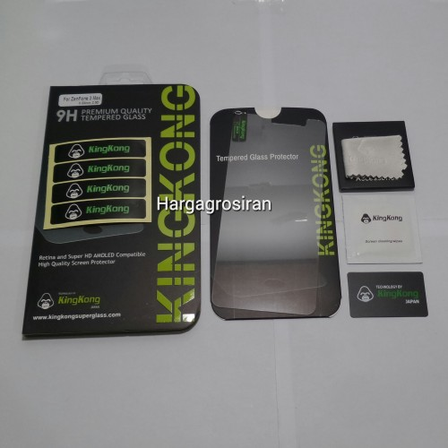 KingKong Asus Zenfone 3 Max 5.2 Inch - Tempered Glass Anti Gores Kaca / Glass Sceen Protector